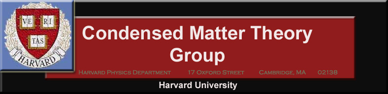 Condensed Matter Theory at Harvard